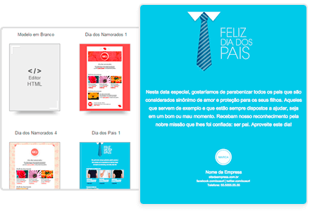 Email Marketing: Campanhas personalizadas e templates prontos